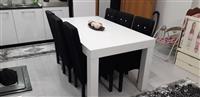 Urgjent tavolin e bukes me 6 karrige