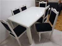 Shitet Tavolina me 6 karrige vetem 160 €