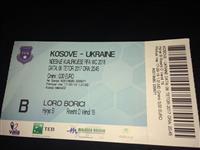Bilet Kosova -Ukraine Hyrja B