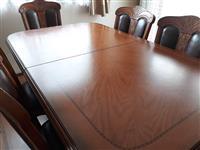 Tavoline me 6 ulese