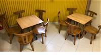 Karrika dhe tavolina druri/bung - Sandalyeci