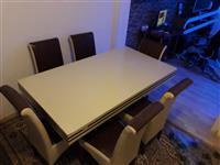 tavolin buke me 6 karrige